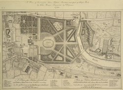 A plan of the Palace Gardens and town of Kensington